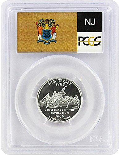 1999 New Jersey State S Silver Proof Quarter PR-69 PCGS