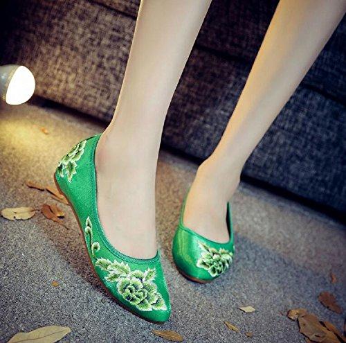 Lazutom Lazutom Lazutom donna Ballerine donna Green Ballerine Green R5wqI