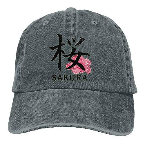 OPS Japanese Sakura Kanji Adult Sport Adjustable Baseball Cap Cowboy Hat ()