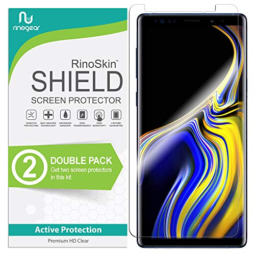 [2-Pack] RinoGear for Samsung Galaxy Note 9 Screen Protector (Full Coverage) Flexible Screen Protector for Galaxy Note 9 HD Crystal Clear Anti-Bubble Film