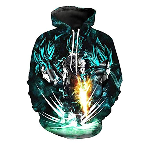 - CHENMA Unisex Kids Dragon Ball 3D Print Pullover Hoodie Sweatshirt with Front Pocket