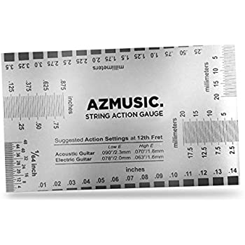 stewmac string action gauge and ruler metric stainless steel designed by stewmac. Black Bedroom Furniture Sets. Home Design Ideas