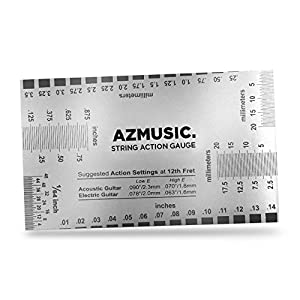 azmusic string action ruler gauge tool for accurate measurement of acoustic. Black Bedroom Furniture Sets. Home Design Ideas