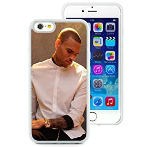 Personalized Iphone 6 Case Design with Chris Brown X Iphone 6th 4.7 Inch TPU White Cell Phone Case