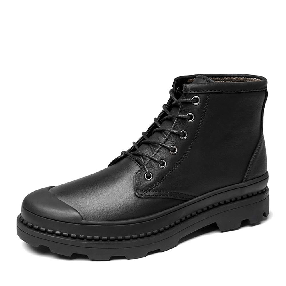 HILOTU Oxfords Forrados En Piel de Cuero para Hombre/Botines de Vestir de Chelsea Botas de Invierno para Caminar Senderismo (Color : Negro, tamaño : 44 EU): ...