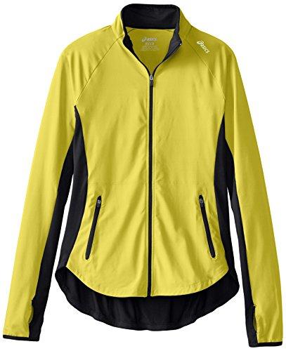 Asics Women's Fit-Sana Jacket, Electric Lime, Small (Running Marathon Jacket)