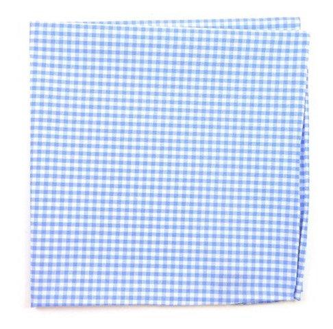 The Tie Bar 100/% Cotton Sky Petite Gingham Pocket Square