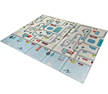 Babify Alfombra de Juegos Reversible XL/Colchoneta Infantil Plegable. Plegable, Antideslizante, extragrande, reversible, impermeable, portátil, de doble cara. (180x200x1cm)
