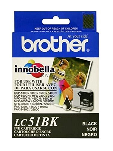 Brother LC51 Print Cartridge - Black, Yellow, Cyan, Magenta (4-Pack) ()