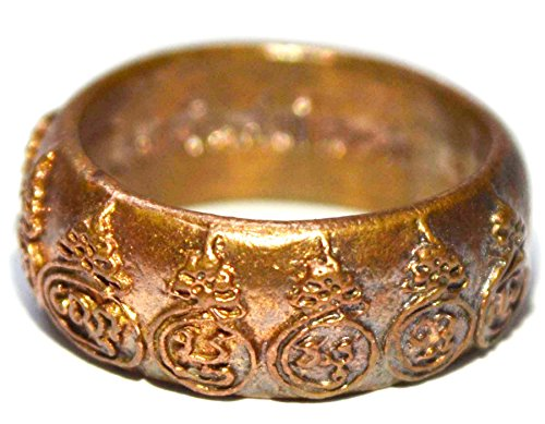 Thai Rings - Thai Buddha Amulets Ring Men Women Mahayaant 9 Yod Sao 5 Bucha Kroo Powerful Wealth Lucky for Life by Lp Moon Watt Baan Jaan Temple
