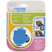 LulaClips Baby Car Seat Harness Clips (2-Pack) - Hold Buckles Open, Prevent Twisting Straps and Save Time - Easy to Install, Childproof Locking Pin - Fit All Car Seats and Carriers – (Blue)