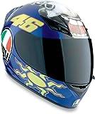 AGV K3 Rossi Donkey Motorcycle Helmet Blue XL X-Large