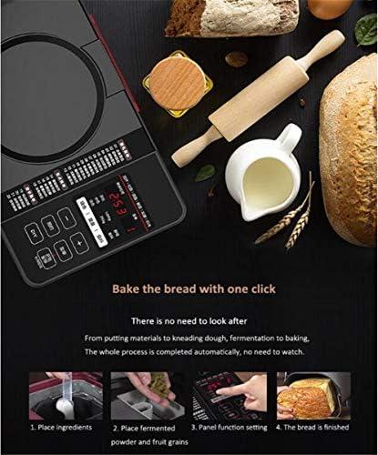 Volledig geautomatiseerde broodbakmachine met notendispenser - zwart