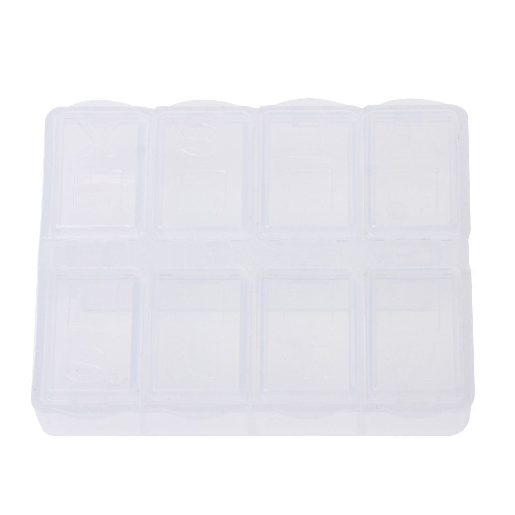 Oranmay 8 Grids Plastic Storage Box Home Organizer Jewelry Beads Pill Boxes Portable Parts Tool Box