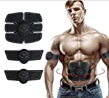 Muscle Toner, JIDIMI Abdominal Toning Belt EMS ABS Toner Body Muscle Trainer Wireless Portable Unisex Fitness Training Gear for Abdomen/Arm/Leg Training Home Office Exercise Workout Equipment