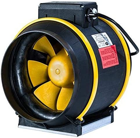 Can Filter Group HGC736748 Can Max Pro Series Inline Mixed Flow Fan with 3-Speeds EZ Mount Bracket-ETL Listed, 8 – 863 CFM, 120 Volt, Black