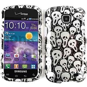 Unlimited Cellular Snap-On Case for Samsung Illusion/Proclaim SCH-i110 (Transparent Design, Cute Multi Mini Skulls)