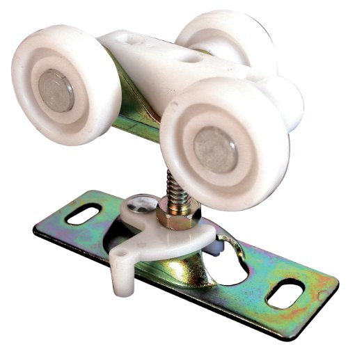 N 6847 Pocket Door Roller Assembly, 3/4 in., FLAT, Plastic Wheels on Steel Bracket (Pack of 2) ()