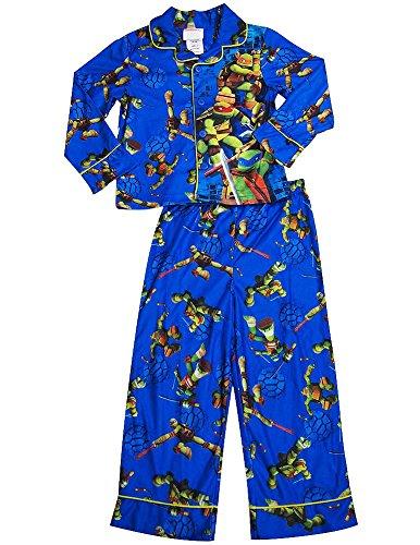 [Teenage Mutant Ninja Turtles - Little Boys Long Sleeve Pajamas, Royal 38265-4] (Blue Ninja Turtle Name)