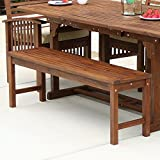 Wood Patio Table WE Furniture Solid Acacia Wood Patio Bench