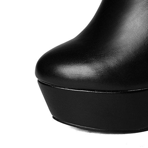 AdeeSu SXC02106 Resistant Womens Boots Urethane Black Comfort Fashion Toe Slip Round 7A7wr