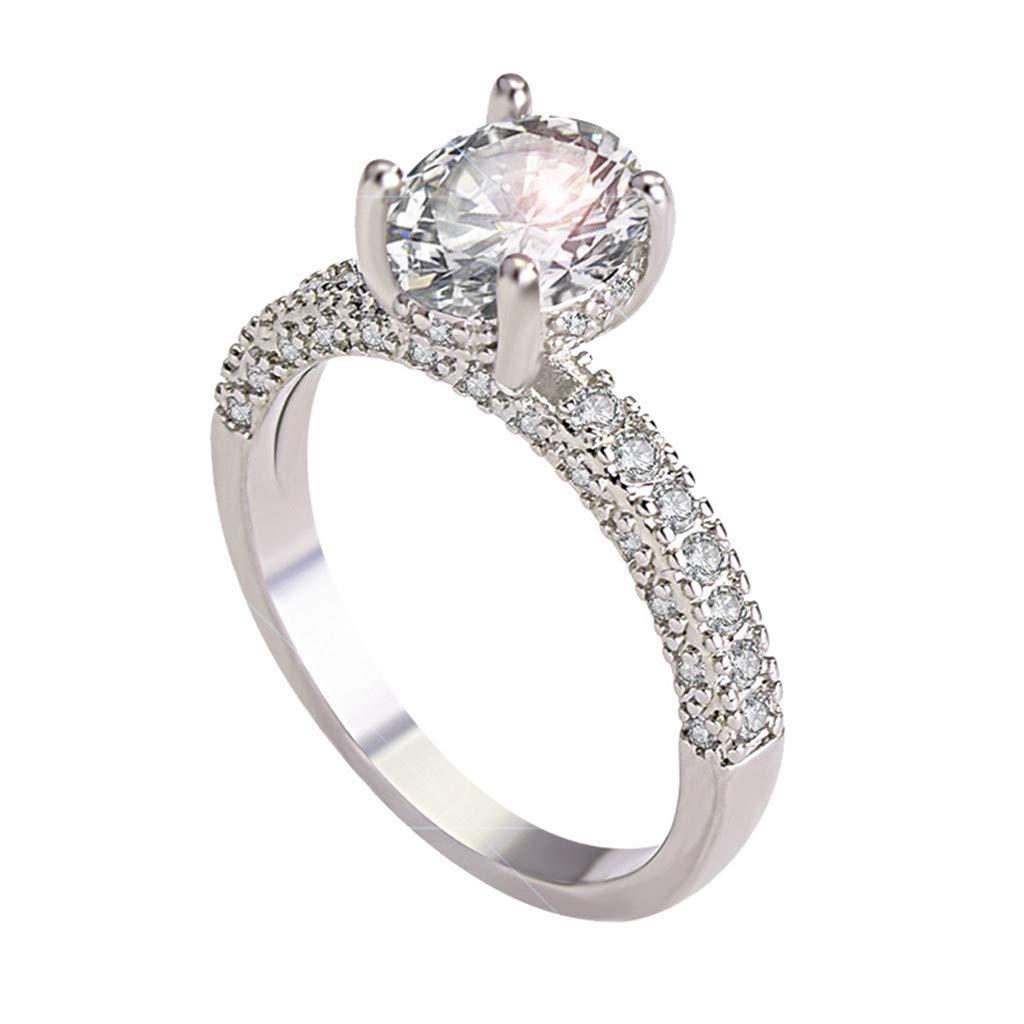 Nmch Women Diamond Zircon Rings Engagement Wedding Band Rings Jewelry Eternity 2019 Rings Size 6//7//8//9//10