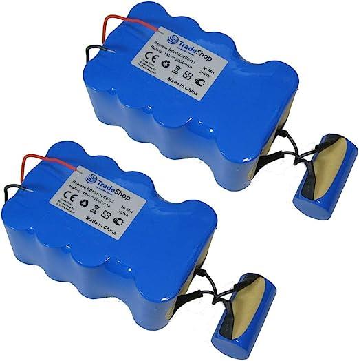 2 x Trade Shop Premium – Batería de Ni-Mh, 18 V/2000 mAh/36 Wh ...