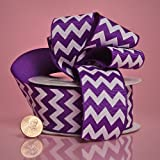 1 1/2'' X 10YD PURPLE CHEVRON GG RIBBON