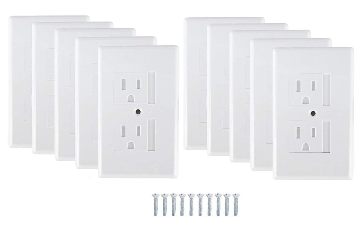 Mommy's Helper Safe Plate Electrical Outlet Covers Standard, White, 10 Pack by Mommy's Helper