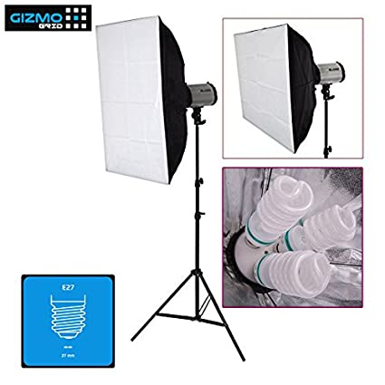 Digitek Digital Still and Product Photography Lighting Kit with Stand, 3  Holders/Sockets
