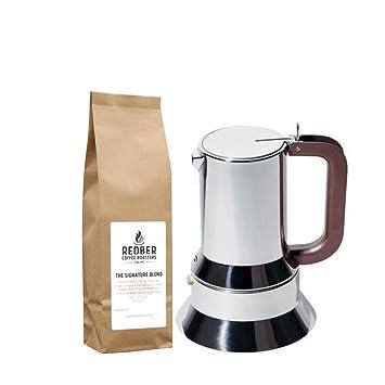 Alessi 6 tazas Cafetera italiana espresso en 18/10 acero ...
