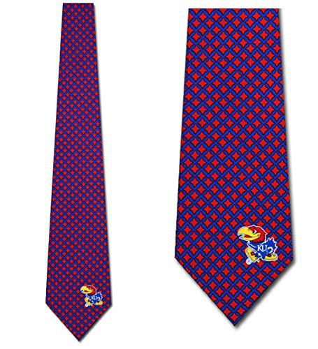 Kansas Jawhawks Ties Mens Diamante Necktie by Eagles -
