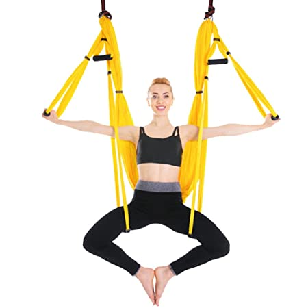 Yuanu Multifuncional Aéreo Antigravedad Yoga Hamaca ...
