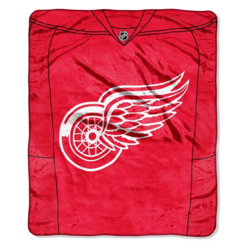 The Northwest Company Officially Licensed NHL Detroit Red Wings Jersey Plush Raschel Throw Blanket, 50' x 60'