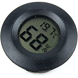 Alfie Pet by Petoga Couture - Misha Digital Thermometer and Hygrometer - Color: Black