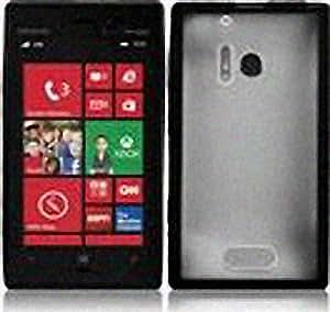 Transparent Clear Black Hard Cover Case for Nokia Lumia 928