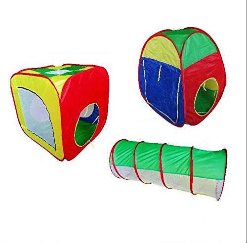DyWarm Kids Tunnel Set Play Tent Outdoor Indoor