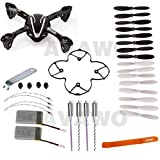 AVAWO for Hubsan X4 H107L 8-in-1 Quadcopter Black/White Spare Parts Crash Pack Parts (As shown)