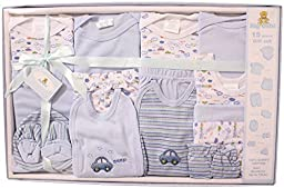 Big Oshi Baby 15-Piece Layette Gift Set, Blue, 0-3 Months