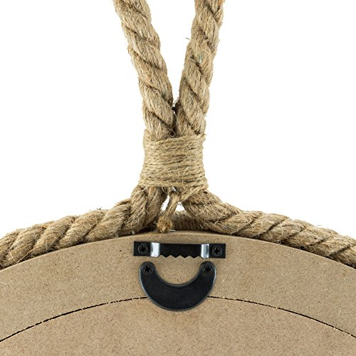 Stonebriar Decorative Oval Rope Mirror with Hanging Loop, Unique Wall Décor by Stonebriar (Image #2)