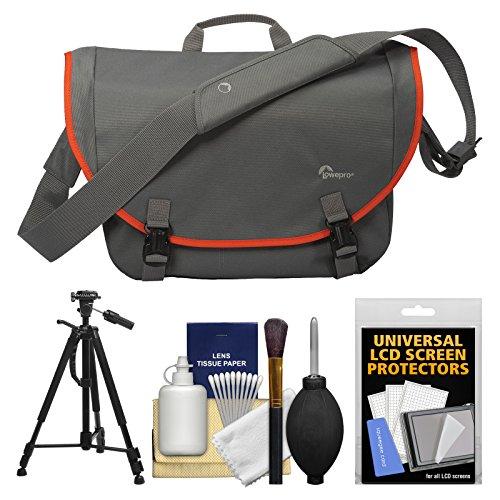 Lowepro Passport Messenger Digital SLR Camera Bag/Case (Grey) with Tripod + Accessory Kit