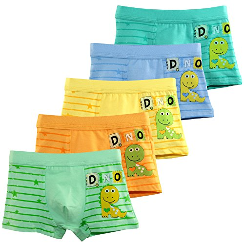 BOOPH Boys Underwear Dinosaur Boys'Boxer Briefs Little Toddler Cotton Underwear for Kids 2T-12T