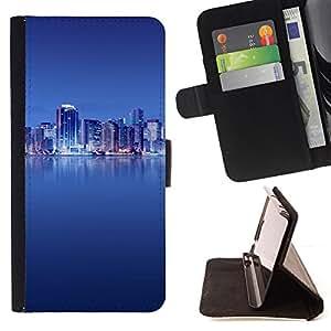 - The Blue City/ Personalizada del estilo del dise???¡¯???¡Ào de la PU Caso de encargo del cuero del tir???¡¯????n del s - Cao - For HTC One M8