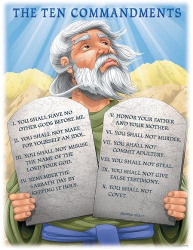 Carson Dellosa Christian The Ten Commandments Chart (6329)