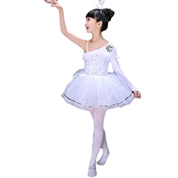 Jian E Trajes de Baile para niños Traje de Cisne Faldas de ...