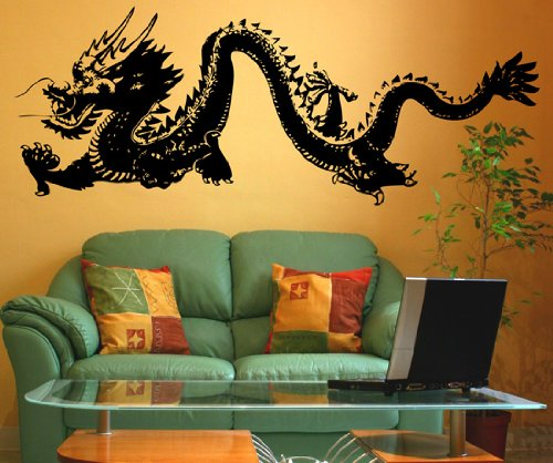 Stickerbrand Asian Dcor Vinyl Wall Art Chinese Dragon Wall Decal Sticker - Multiple Colors Available, 21
