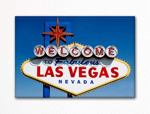 Welcome to Fabulous Las Vegas Nevada Famous Sign Fridge Magnet
