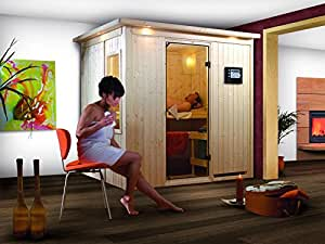 Sauna tradicional Fanja 1, 68 mm, Plug and Play 196 x 151 x 200 cm KARIBU