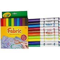 Crayola 绘儿乐 10色织物上色水笔 58-8623