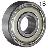 BC Precision 16BC608ZZ Sixteen (16) 608ZZ 8x22x7 Shielded Greased Miniature Ball Bearings